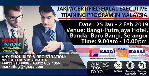 Jakim Certified Halal Executive Training Program In Malaysia At