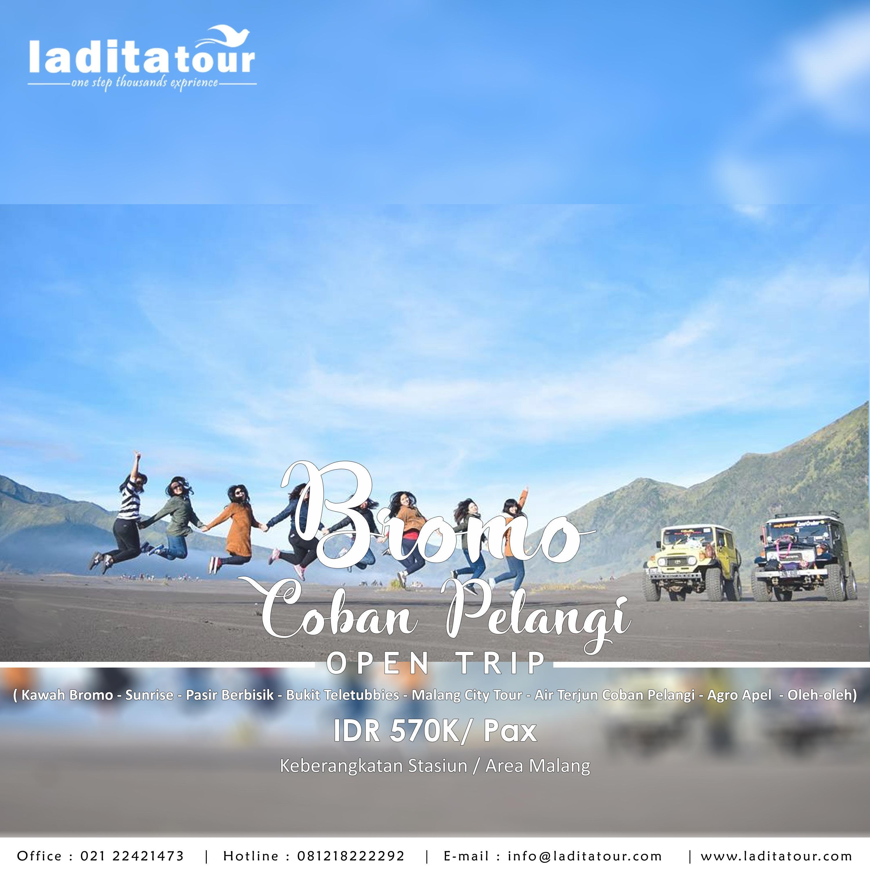 OPEN TRIP Gunung Bromo 2 Hari 1 Malam 7 - 8 Juli 2018 - Ladita Tour Jakarta