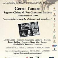Concerto Inaugurale del Festival Luoghi ImmaginariXVedizioneCerro Tanaro