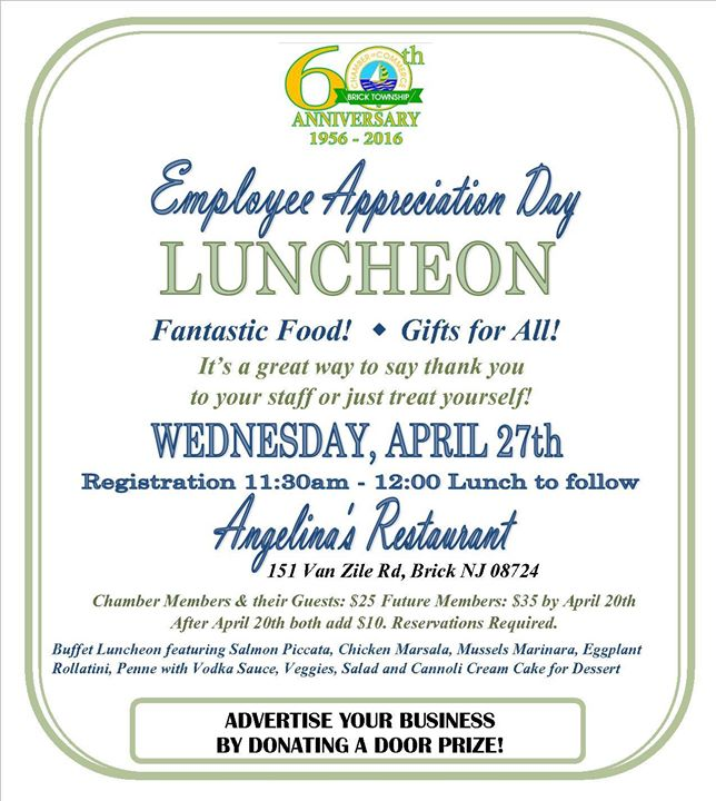Employee Appreciation Day Luncheon at Angelina's ...