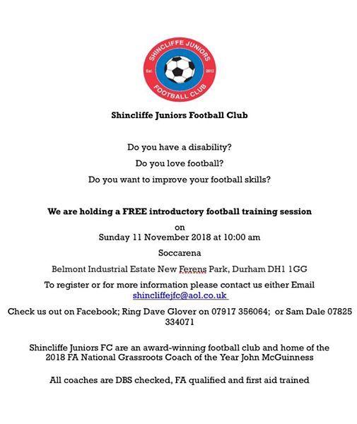Disability Football Taster Session At Soccarena Durham