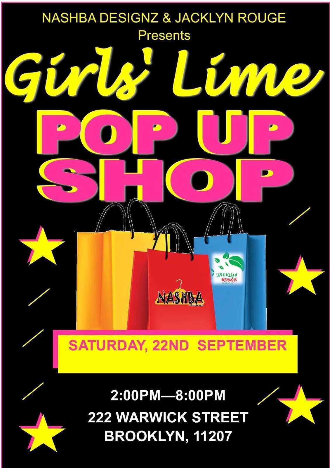 Girls Lime Pop up Shop
