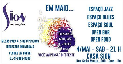 Buena Vista Soul Jazz & Blues - Casa Sion - BH