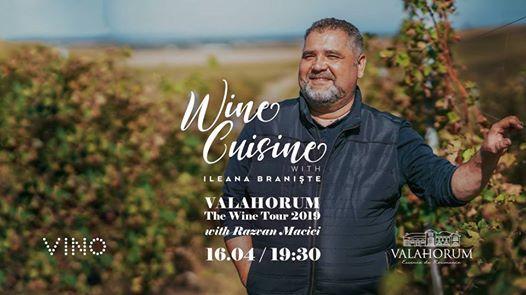 Wine cuisine with Ileana Branite  VALAHORUMThe Wine Tour 2019