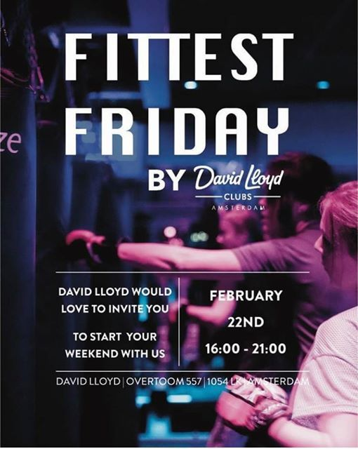 The Fittest Friday by David Lloyd Amsterdam is BACK For FREE