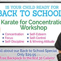 Karate For Concentration Workshop 82617