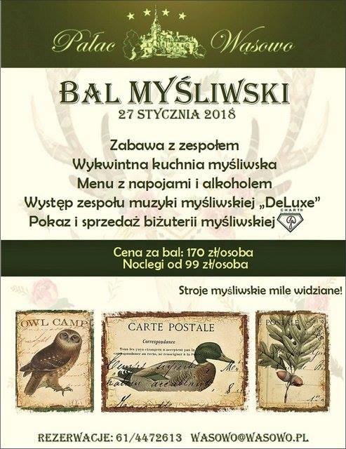 Bal Myśliwski At Pałac Wąsowo Wasowo