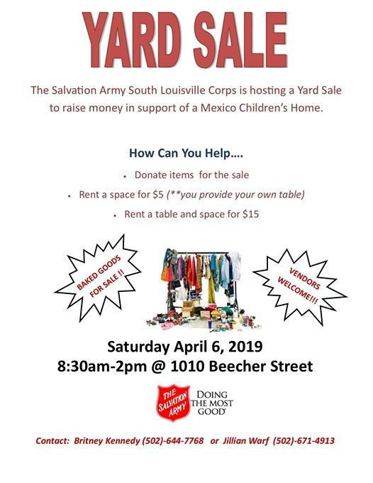 Sisters in Action Yard Sale Fundraiser