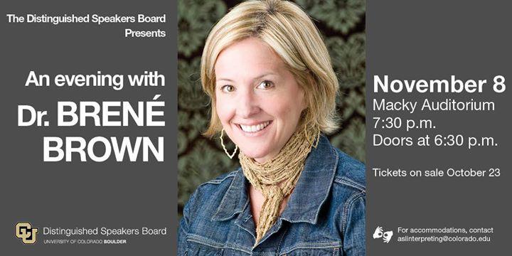 An Evening with Dr. Bren Brown