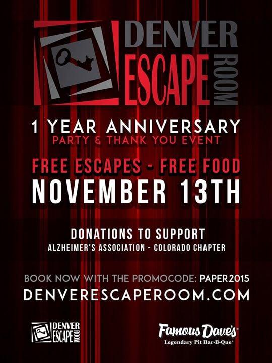 Denver Escape Room Anniversary Party Northglenn