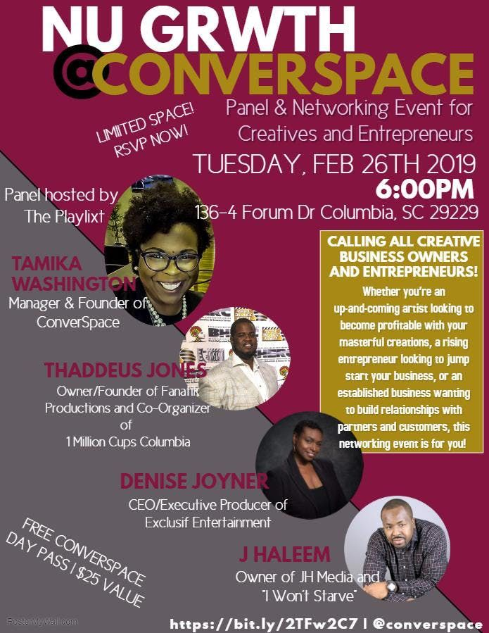 NU GRWTHCONVERSPACE - Networking & Panel for Creative Entrepreneurs