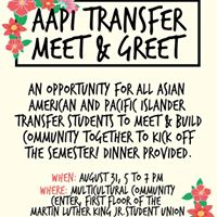AAPI Transfer Student Meet &amp Greet