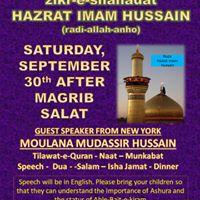 Muharram Ashura Program ZikreShahadat Hazarat Imam Hussain
