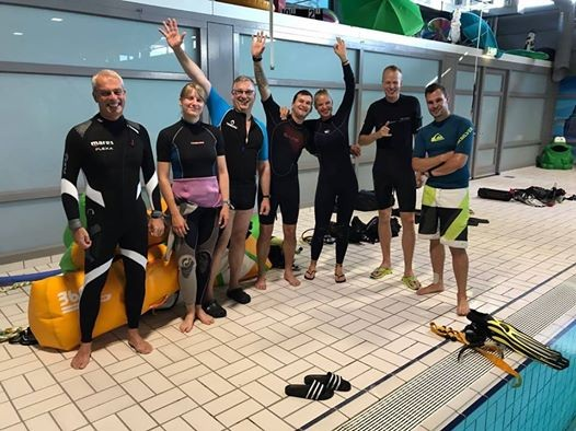 Padi instructor development course idc at zwembad de vallei