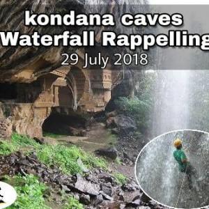 Kondana Caves Waterfall Rappelling