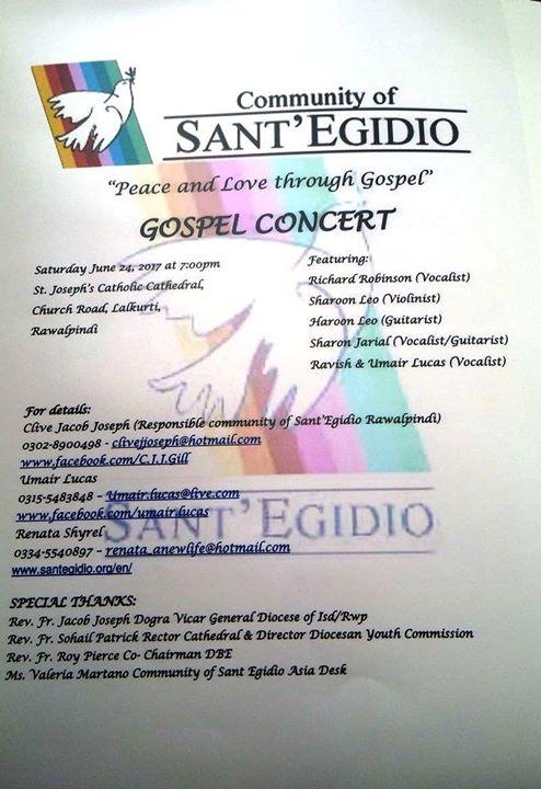 Gospel Concert at St  Joseph's Cathedral , Lalkurti, Rawalpindi
