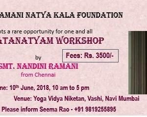 Bharatanatyam Workshop By Guru Nandini Ramani At Yoga Vidya Niketan New Mumbai