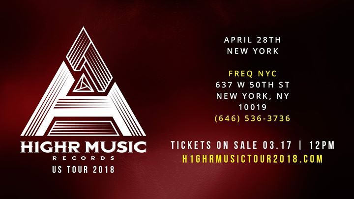 H1GHR MUSIC TOUR 2018 in New York