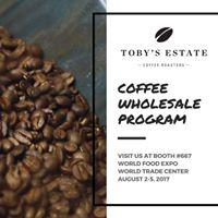 Tobys Estate Coffee Roasters X WOFEX 2017