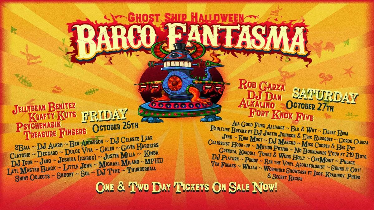 ghost ship halloween: barco fantasma at svn west, san francisco