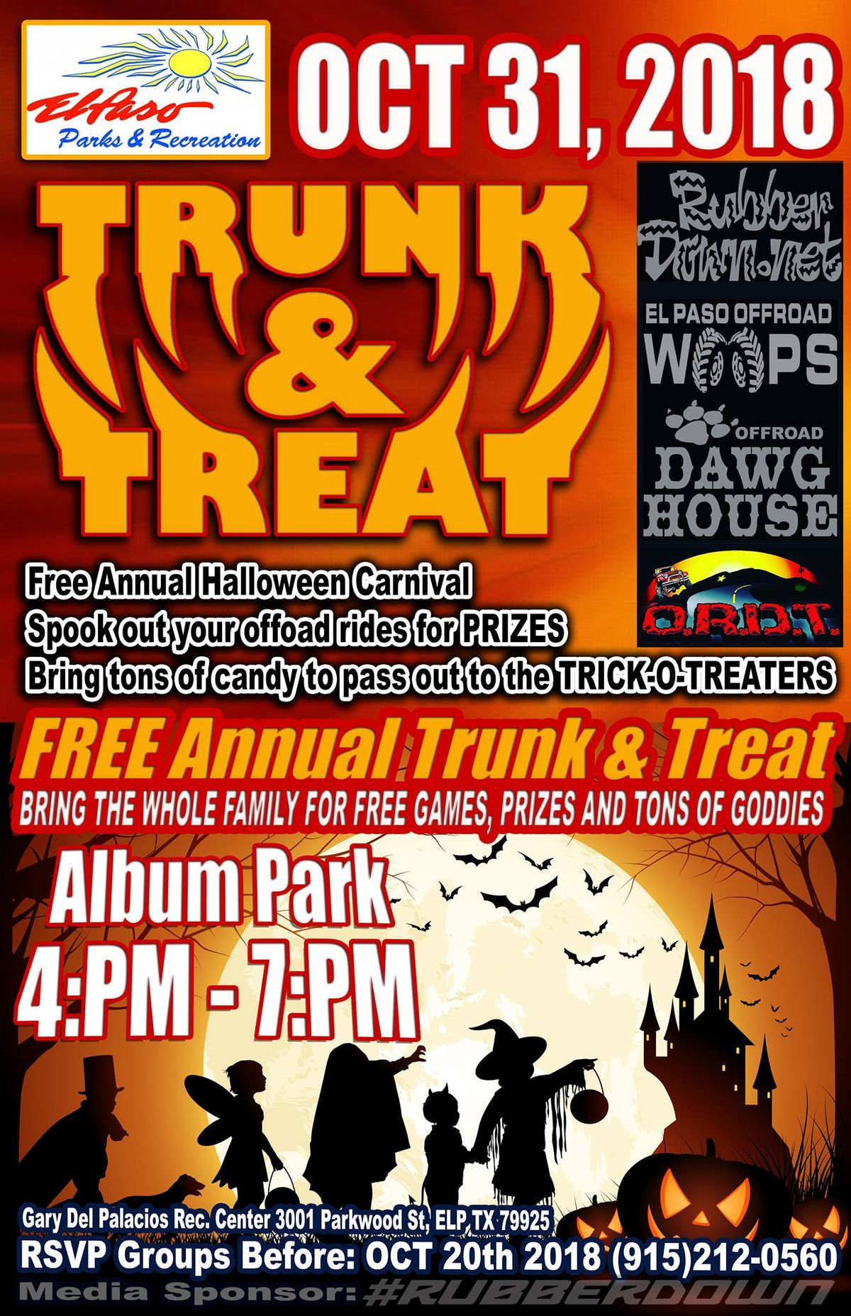 free annual trunk & treat at album park | el paso