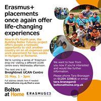 Erasmus drop in session at Breightmet UCAN Centre
