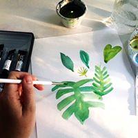 Botanical Prints Sumi InkWatercolor