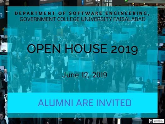 Open House 2019, Department of Software Engineering, GCUF | Faisalabad