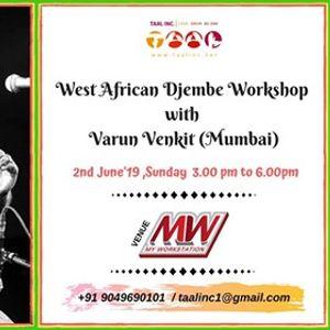 Taal Inc. West African Djembe workshop with Varun Venkit