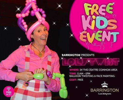 Free Kids Event at Barrington with Lolytwist