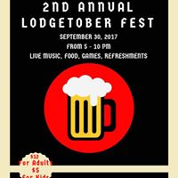 Golden Spike Lodge No 6 presents the 2nd Annual Lodgetober Fest
