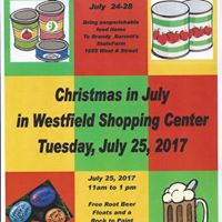 Christmas in July in the Westfield Shopping Center