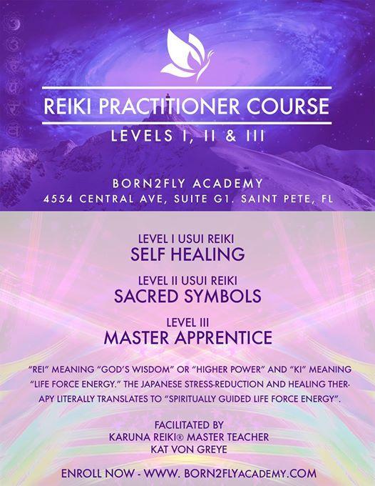 Usui Reiki Master Training Course At Born2fly Academy Florida