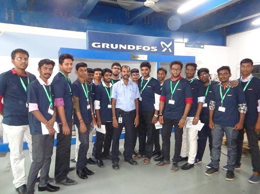Industrial Visit to Grundfos pumps-World Leaders