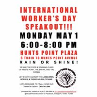May Day Workers Speakout in Hunts Point
