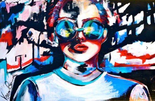 ArtNight Acryl Collage - Frau am 21012019 in Stuttgart