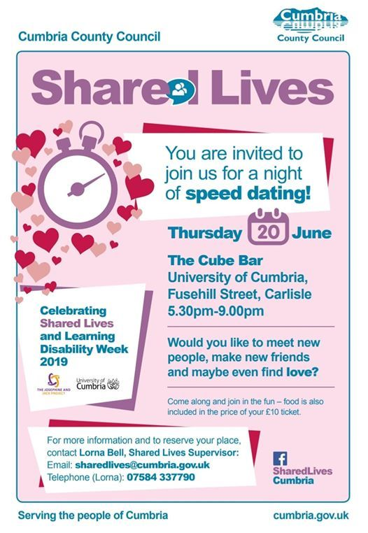 Speed dating events in cumbria