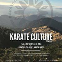 Karate Culture Seminar - Concord CA