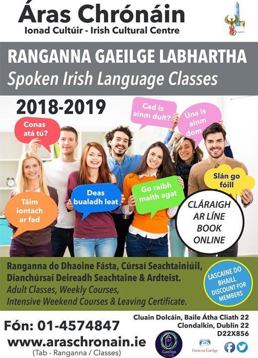 Ranganna Gaeilge Labhartha - Spoken Irish Classes
