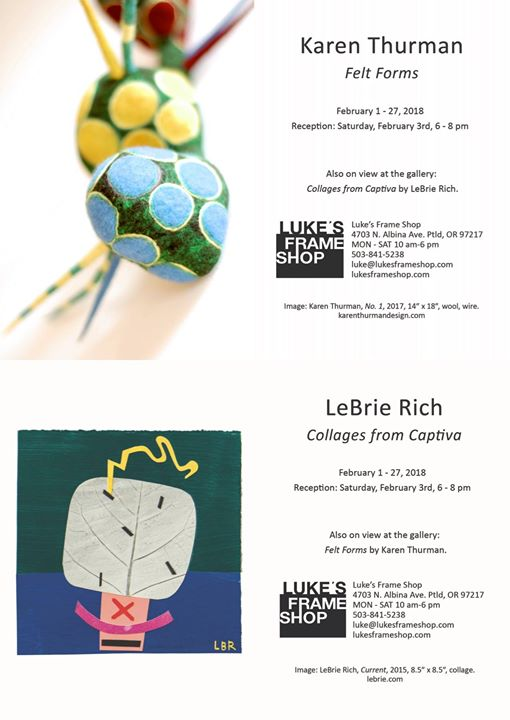 Art Show at Luke\'s Frame Shop-Albina, Portland
