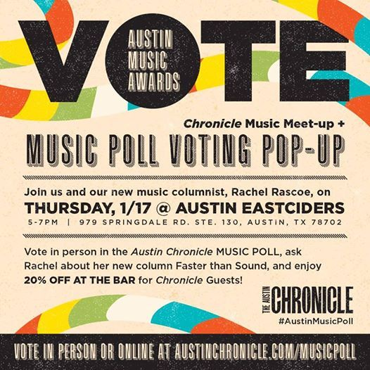 Austin Chronicle Music Poll Pop-up  Meet and Greet
