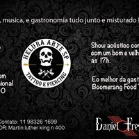 Tatoo Msica &amp Gastronomia com o Boomerang