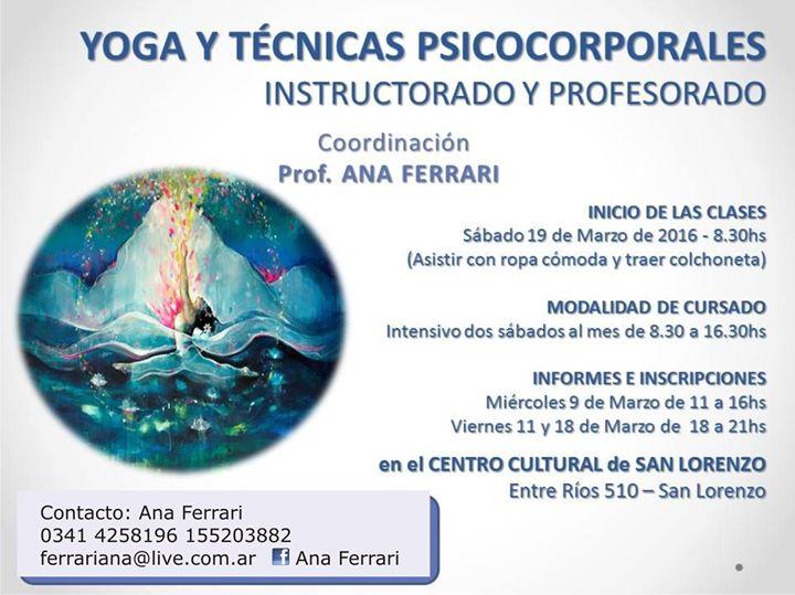 CAPACITACION YOGA. YOGA Y TECNICAS PSICOCORPORALES INSTRUCTORADO Y  PROFESORADO 9f16dab12c1e