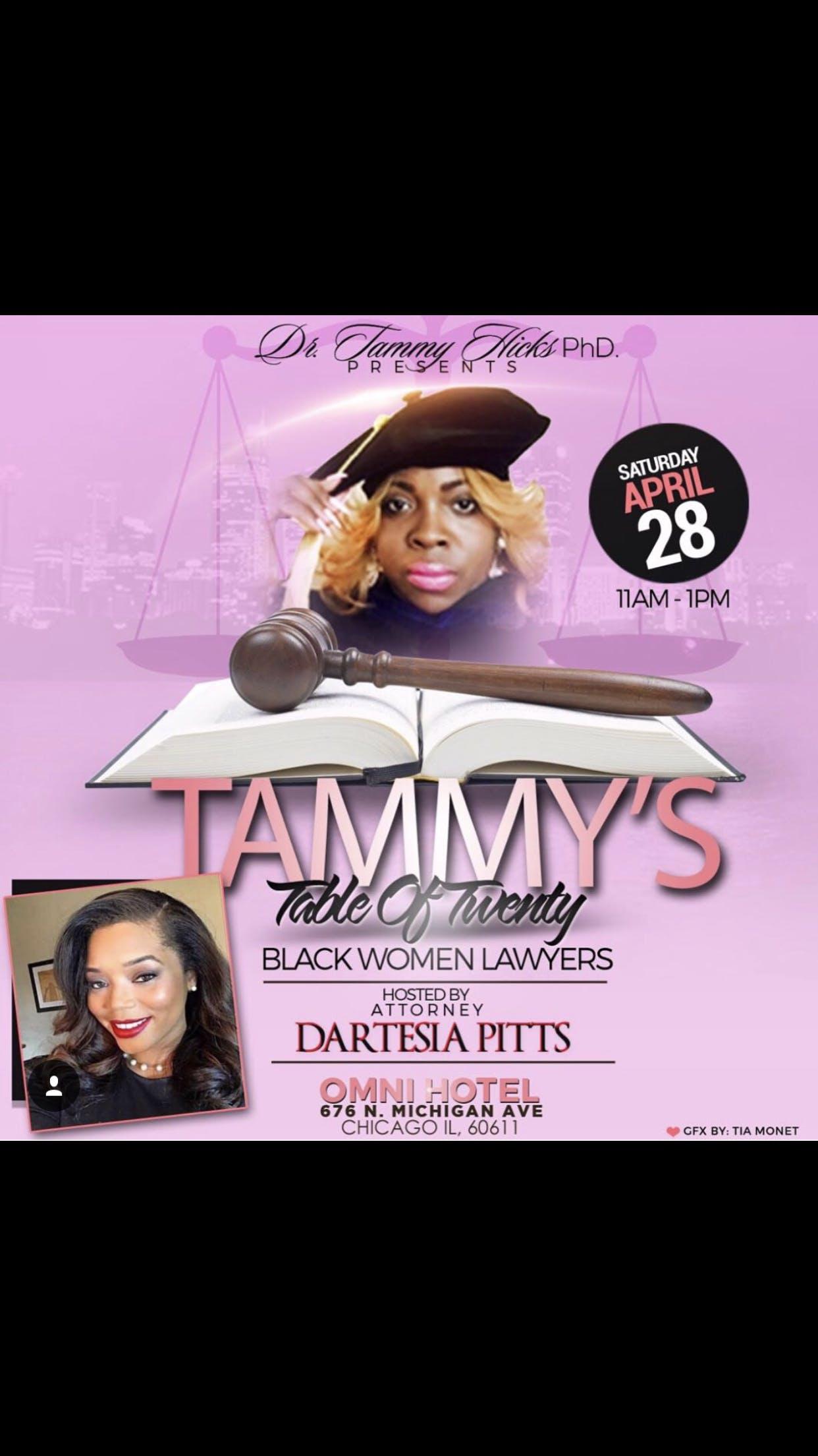 "TAMMYS TABLE OF TWENTY of ""BLACK WOMEN LAWYERS"" with"