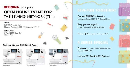 BERNINA Open House event for The Sewing Network (TSN)