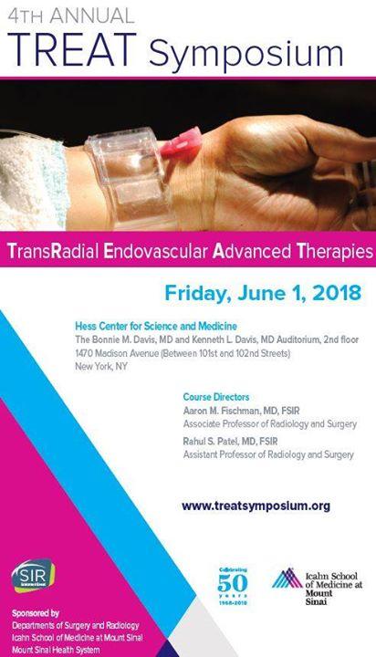 TREAT Symposium 2018 at Mount Sinai Interventional Radiology, New York