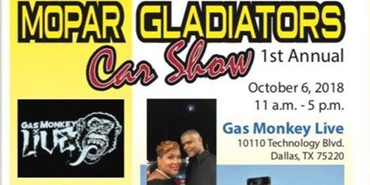 Mopar Gladiators Domestic Violence Awareness Car Show At Gas Monkey - Gas monkey car show