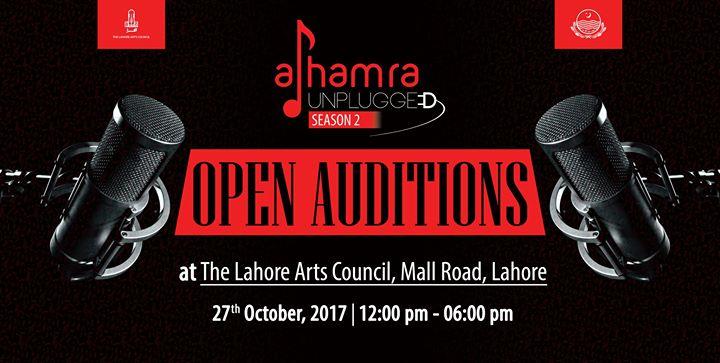 Open Auditions Alhamra Unplugged Season-2