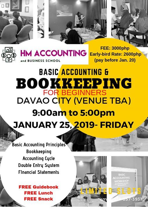 1 Day Bookkeeping And Basic Accounting Workshop At Davao City Davao