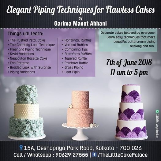Elegant Piping Techniques At Choco Lust The Little Cake Palace